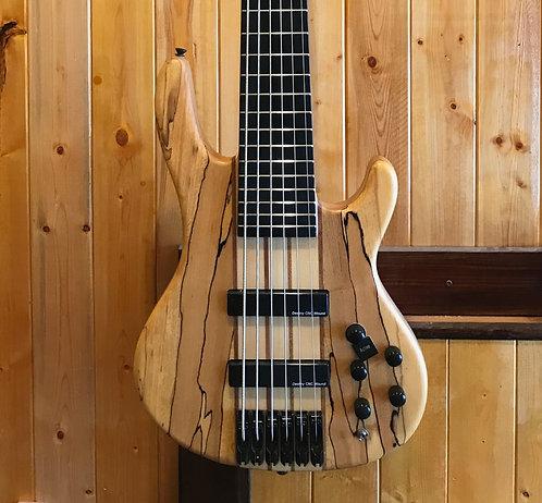 AIO Wolf SSB-6 6 String Bass Spalted Maple (#5) w/gig bag