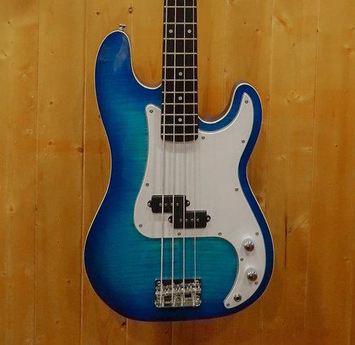 AIO PB4 4 String Bass - Blue Burst w/gig bag