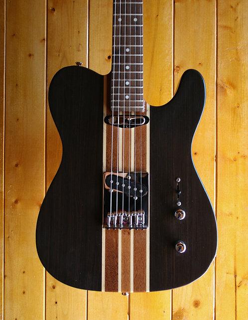 AIO Wolf TC1 Electric Guitar - Walnut (Moon Dot Inlay) w/Hard Case