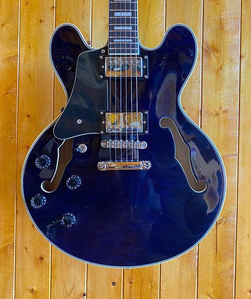AIO Wolf KSA50 Semi-Hollow Guitar *Left Handed - Dark Blue