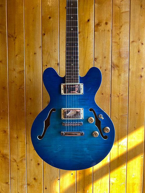 AIO Wolf WA-TM Semi-Hollow Electric Guitar - Blue Burst *B-Stock