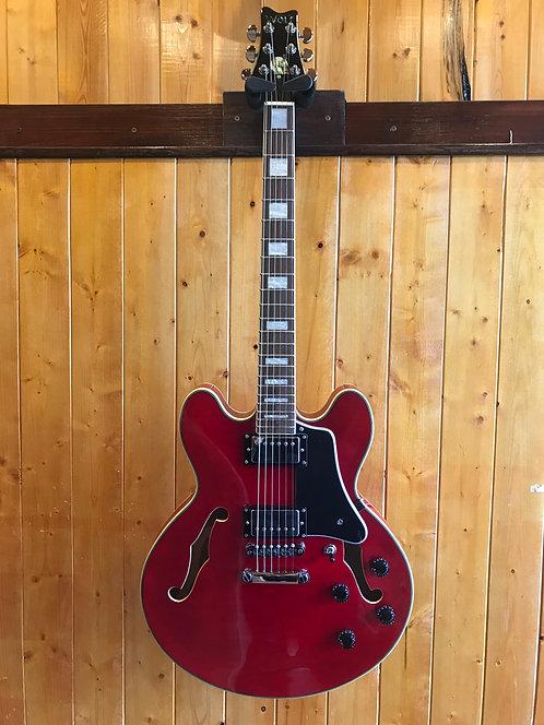 Wolf 2020 KSA50 Semi-Hollow Guitar - Wine Red (no case)