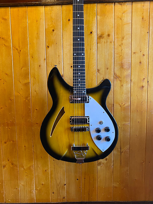 Wolf W300 Semi-Hollow Electric Guitar 2-Tone Sunburst