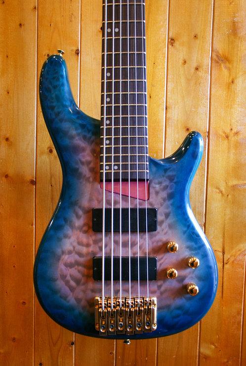 AIO Wolf KTB-6 6 String Bass Blue Burst