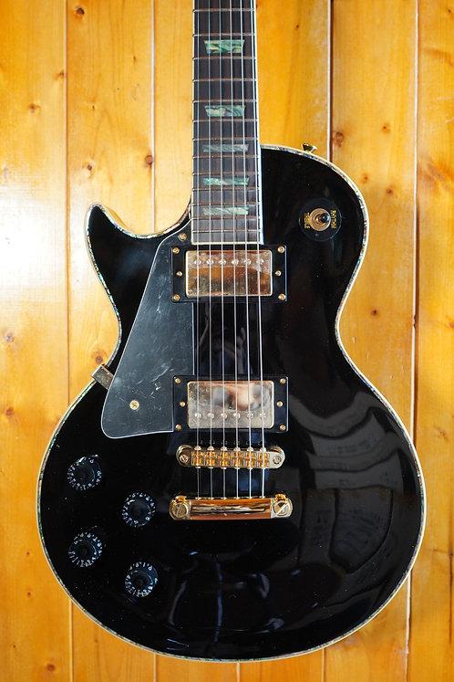 AIO SC77 *Left-Handed Electric Guitar - Solid Black w/SKB-SC56 Case
