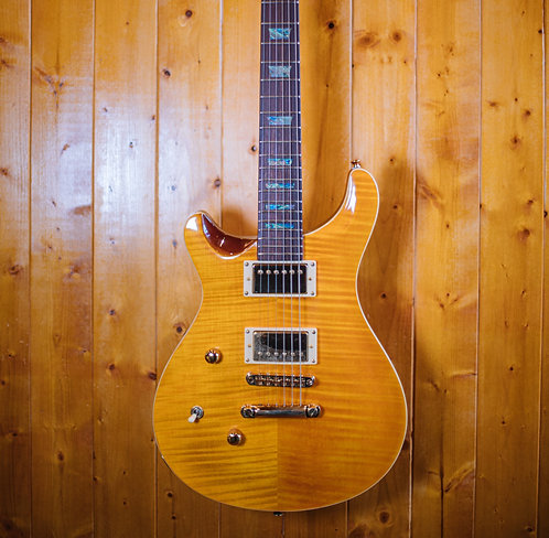 AIO Wolf W400 Electric Guitar *Left Handed - Amber (no case)