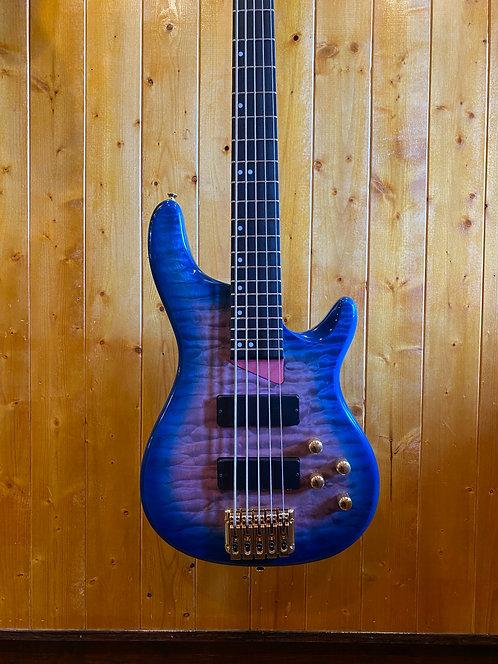 AIO Wolf KTB-5 5 String Bass - Blue Burst