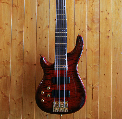 AIO Wolf KTB-6 6 String *Left-Handed Bass - Red Burst
