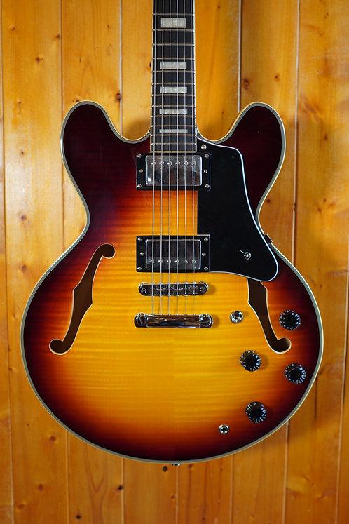 AIO SH-335 Semi-Hollow Electric Guitar - Tobacco Sunburst (no case)