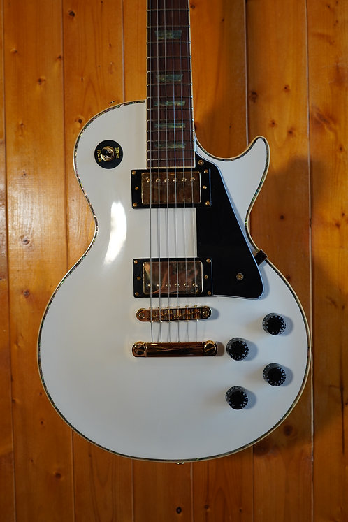 AIO Wolf WLP 750T Electric Guitar - White w/SKB-SC56 Case