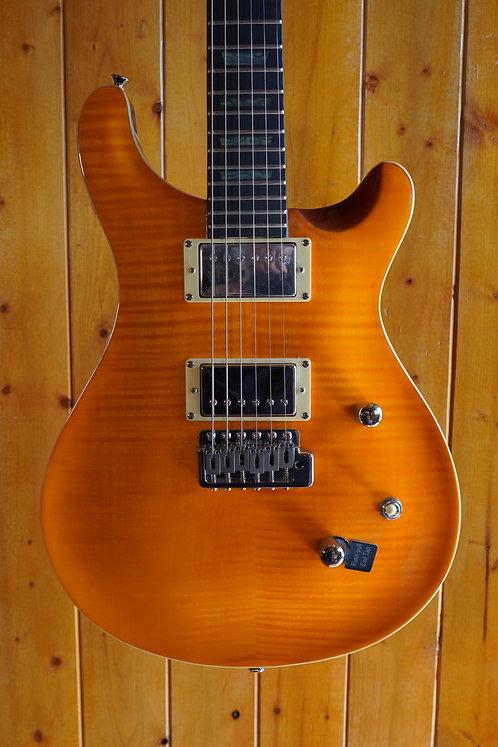 AIO W400 TRE Electric Guitar - Amber w/Gator Hard Case
