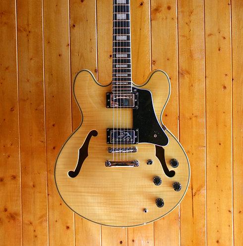 AIO SH-335 Semi-Hollow Electric Guitar - Natural w/Gator Hard Case