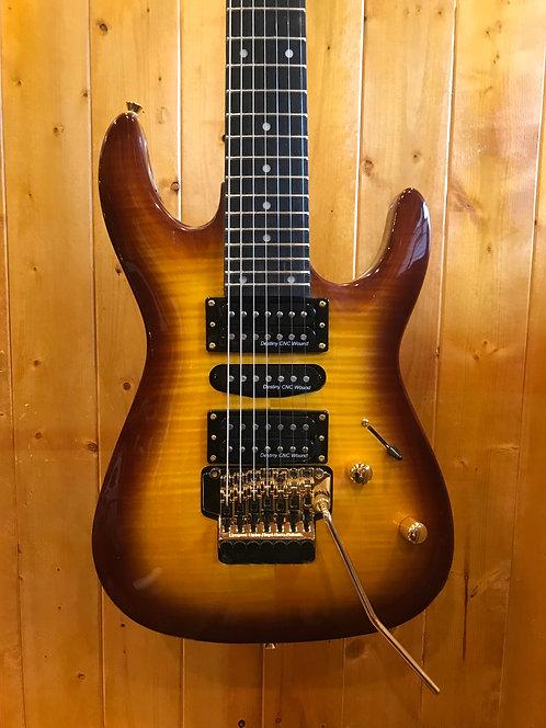 AIO Wolf KS-70LX 7 String Electric Guitar - Tobacco Sunburst