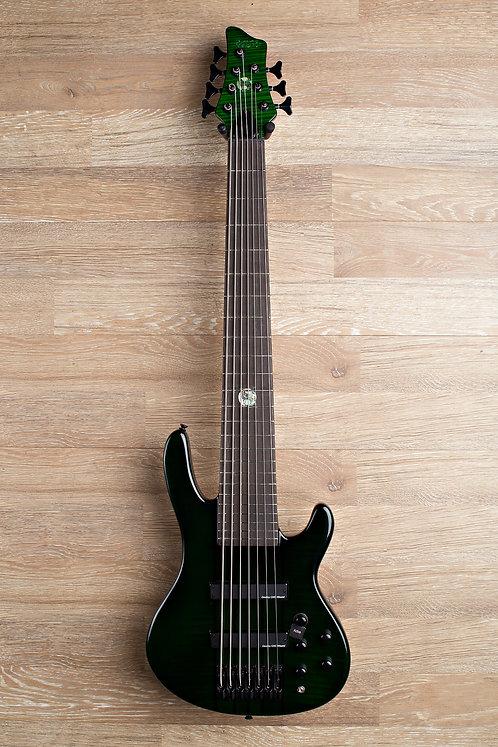 Wolf S11-7 7 String Bass Guitar - Dark Green (#10)