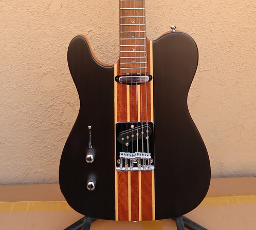 AIO Wolf TC1 Telecaster Left-Handed - Walnut(Paw inlay) w/Hard Case