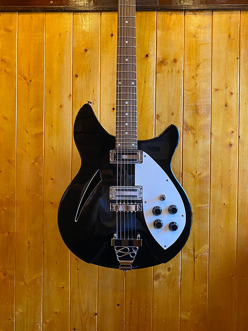AIO Wolf W300 Semi-Hollow Electric Guitar - Black