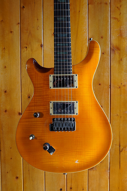 AIO W400 TRE *Left-Handed Electric Guitar - Amber w/Gator Hard Case