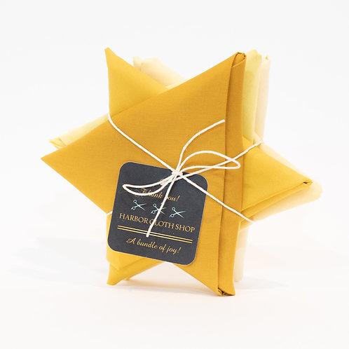 Daffodil Yellows  I  5 pc Fat Quarter Bundle