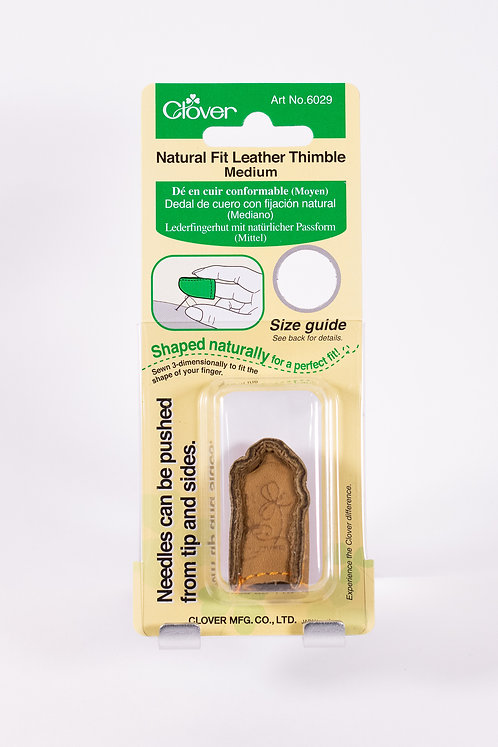 Clover Natural Fit Leather Thimble | 2 sizes