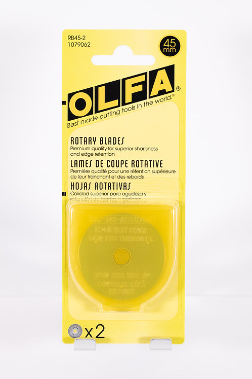 Olfa 45mm Rotary Blade | 2 ct