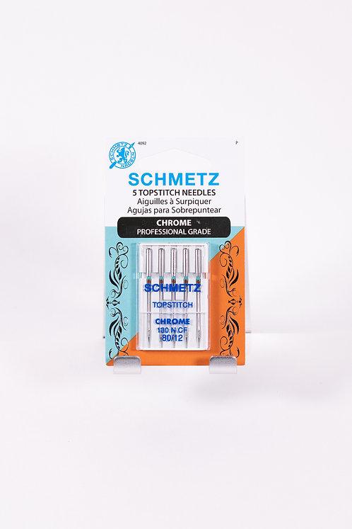 SCHMETZ CHROME Topstitch Needle | 5 count | 80/12