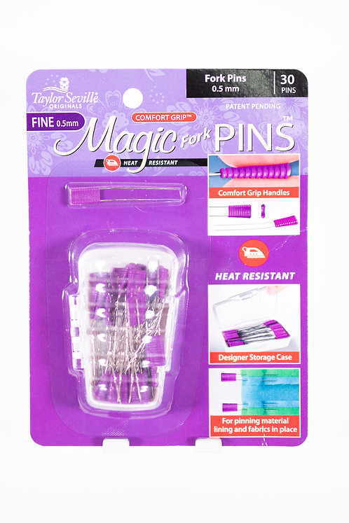 Magic Pins   Fork Pins   Fine 0.5 mm   30 ct   Heat Resistant