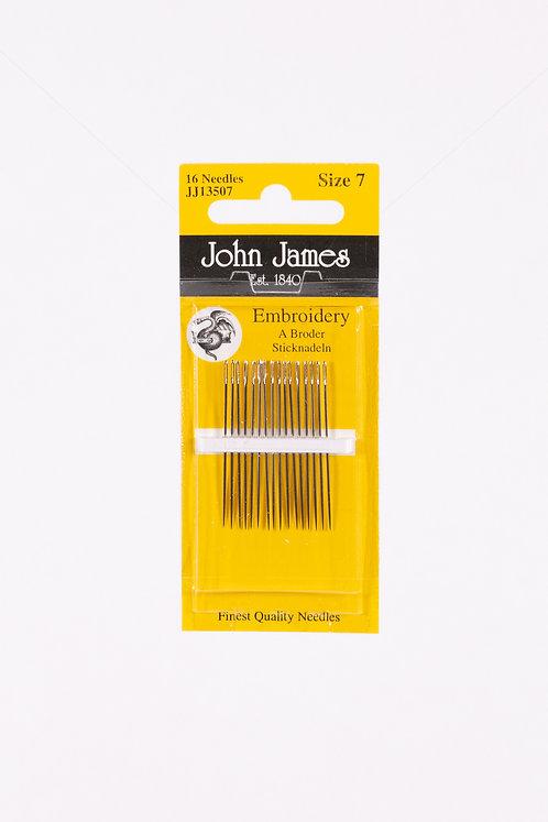John James   Colonial Needle Co   Siz 7 Needle