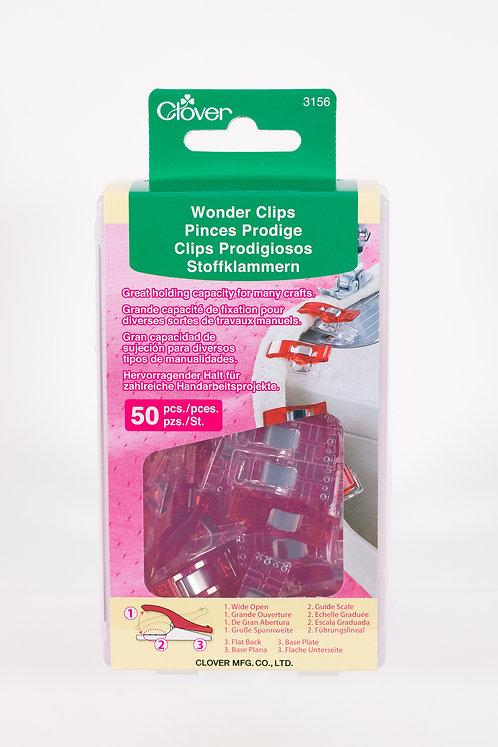 Clover Wonder Clips | Red | 50 ct