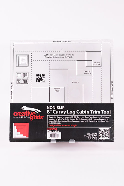 """8 1/2"""" Curvy Log Cabin Ruler by Creative Grids 