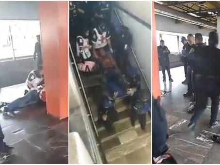 Policía Federal baleado en la estación Aragón L-5