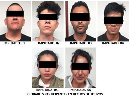 Vinculan a proceso a seis personas que vendían droga en Paseo de la Reforma