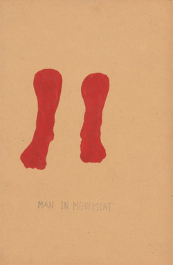 Man in movement