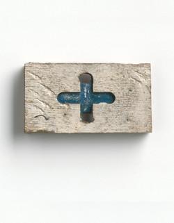 Blauw kruisje