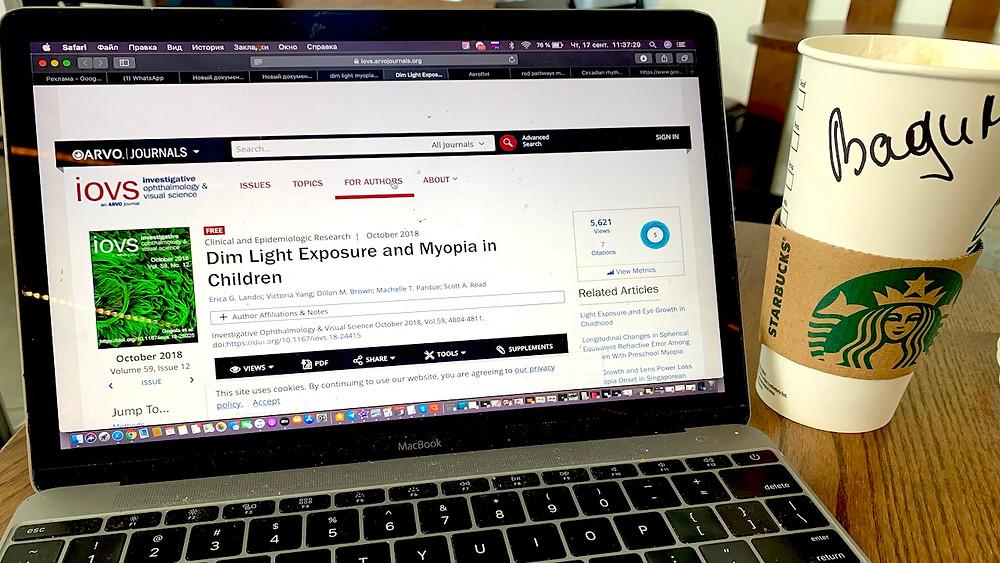 влияние плохого освещения на миопию