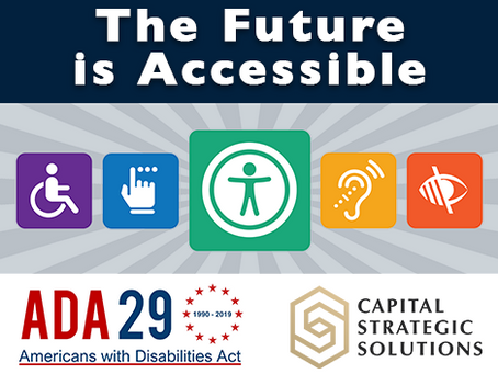 July 26th Marks the Americans with Disabilities Act 29th Anniversary!