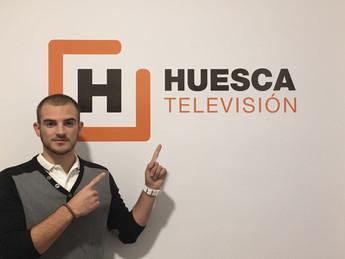 Raúl Poblador en la TV Huesca