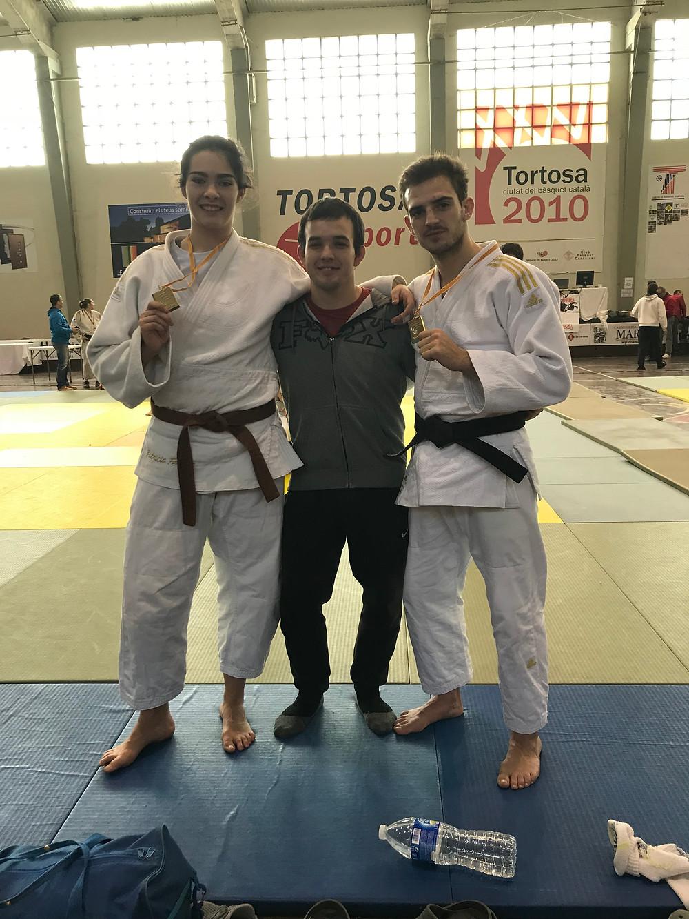 Patri, Dani y Raúl Oros en Tortosa