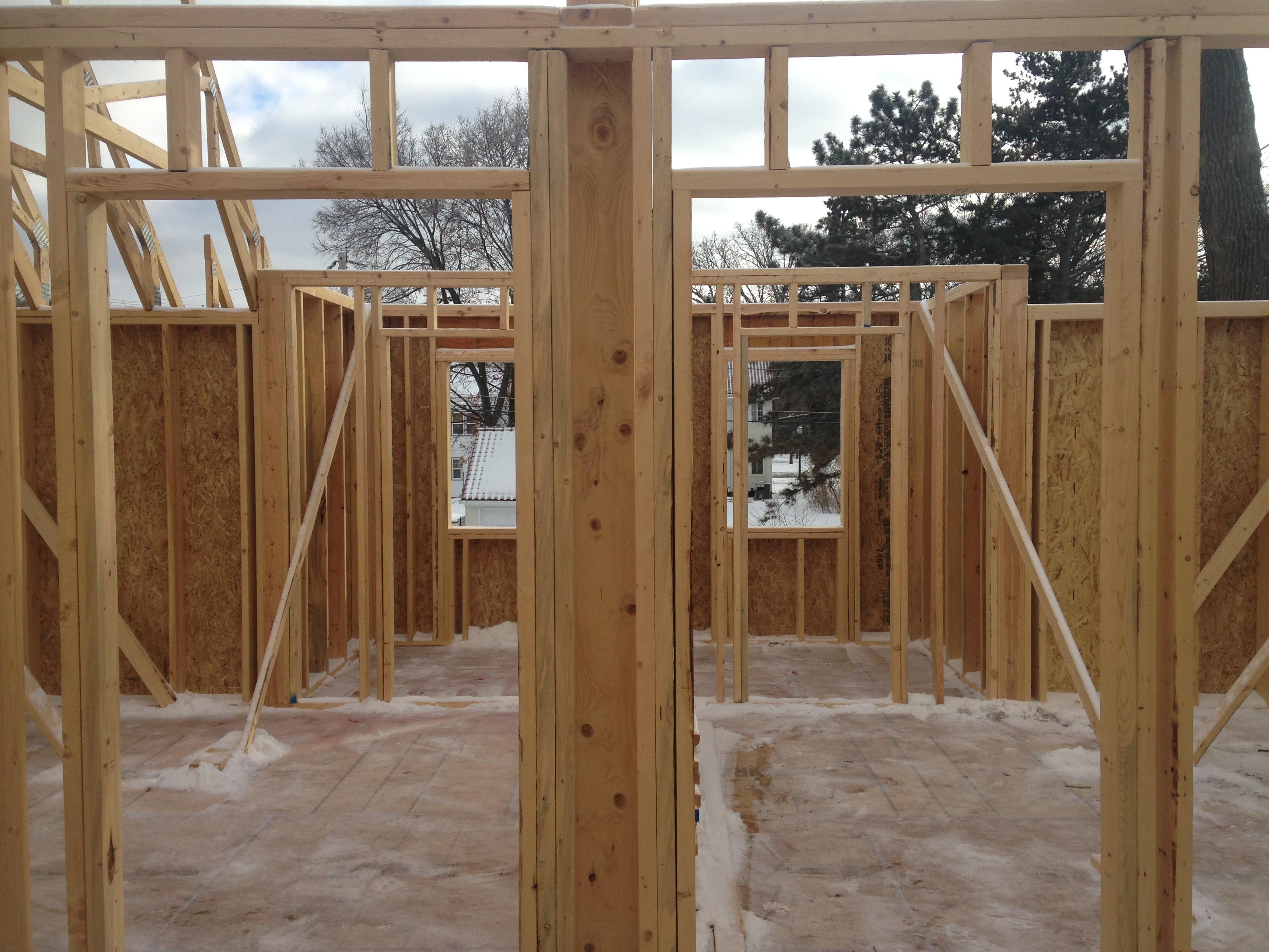 Interior Framing-Hall-View toward Bedrooms-2018.02.20
