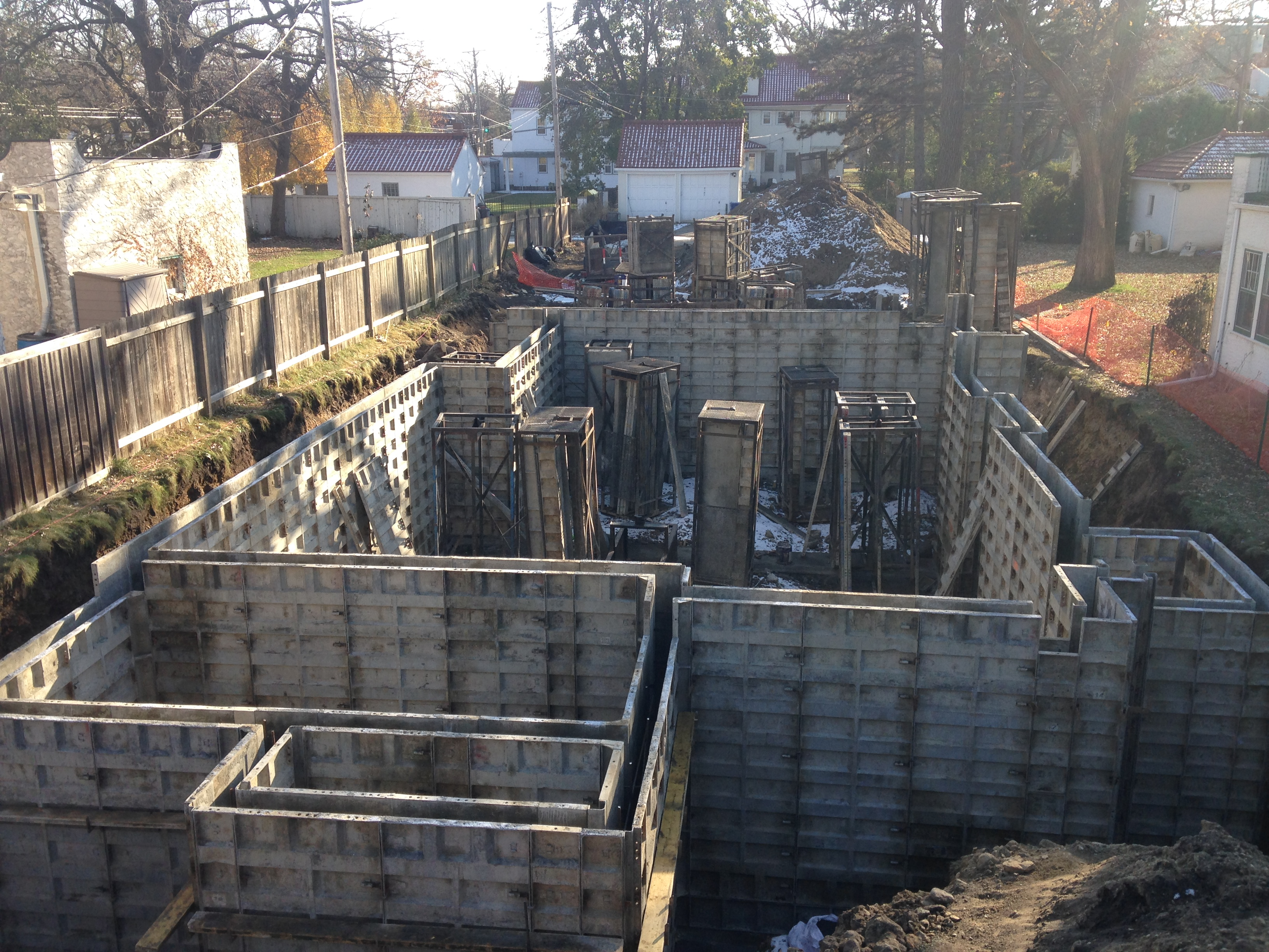 View from North-Mississippi Blvd. N.-Foundation Formwork-1-2017.11.11