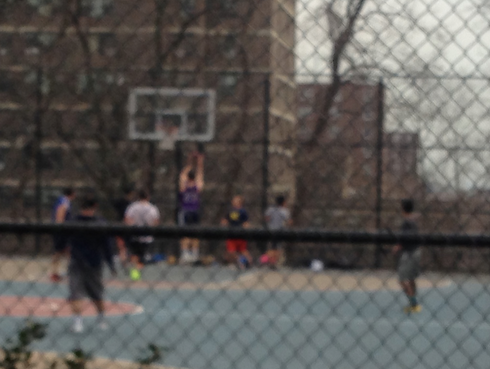 New Yorkers Playing Basketball