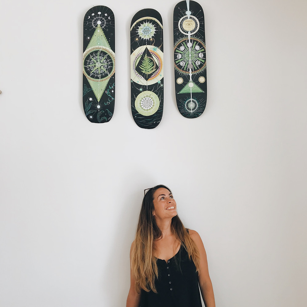 skateboards ferns fougères painting energies