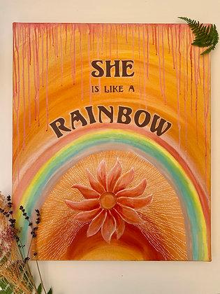 SHE IS LIKE A RAINBOW