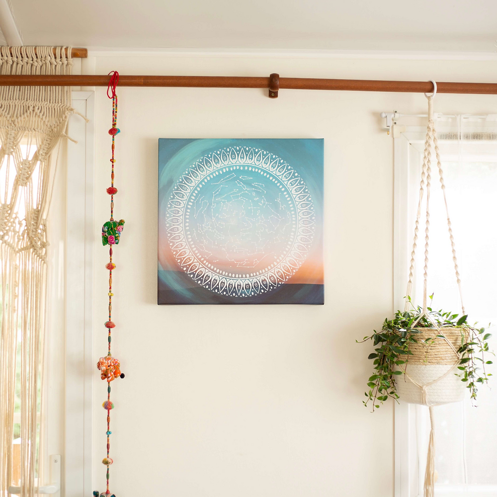 Comment accrocher toile sur mur