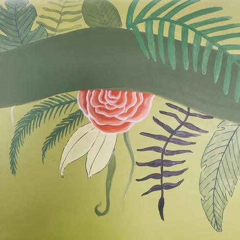 Chlo Hej-Jungle mural painting