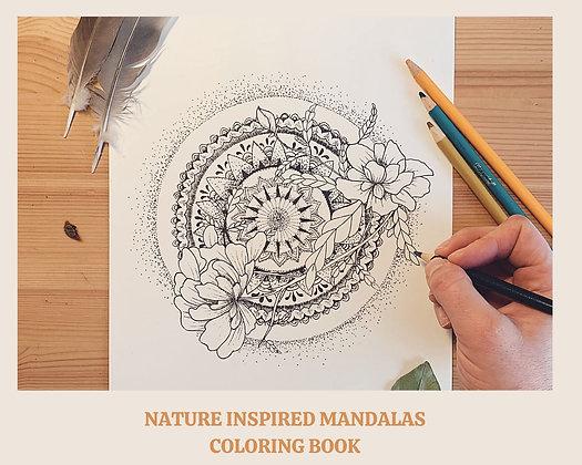 MANDALAS NATURE Cahier de coloriage