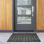 ECOMAT RECYCLED TIRE MAT BLACK LIFESTYLE
