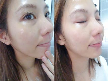 """美妝 Blogger Karine  """"凝膠質感,帶有淡淡的清香,於肌膚上能容易推開,而凝膠能自動吸附毛孔中日常的污垢及彩妝,可用作卸除淡妝或防曬使用。"""""""