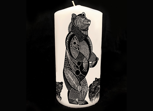 "The Great Bear 8"" Decorative Pillar Candle (unscented)"