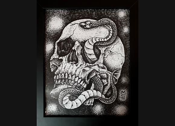 Snake and Skull by Magie Sonny Black