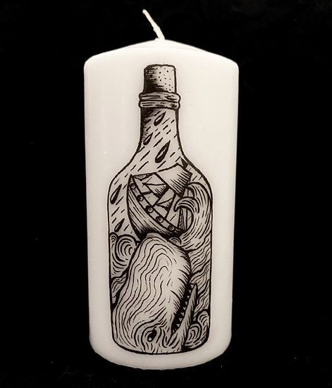 Moby Dick Pillar Candle (unscented)